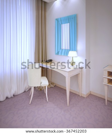 latest affordable cool d render dressing table in expensive hotel room near window with ikea. Black Bedroom Furniture Sets. Home Design Ideas