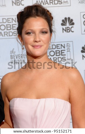 DREW BARRYMORE at the 64th Annual Golden Globe Awards at the Beverly Hilton Hotel. January 15, 2007 Beverly Hills, CA Picture: Paul Smith / Featureflash
