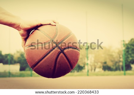 dribbling the ball on...