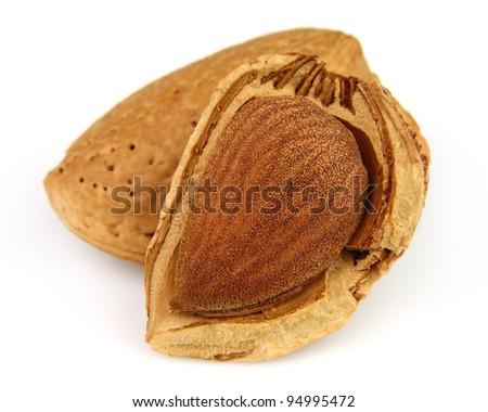 Dried almond - stock photo