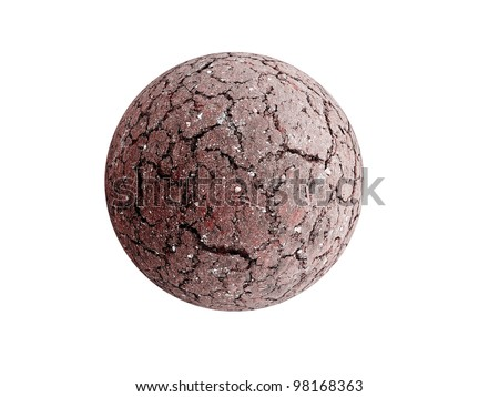 Dried and cracked Earth sphere as global warming concept