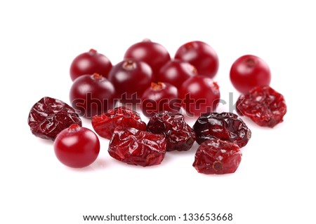 Dried and fresh cranberries