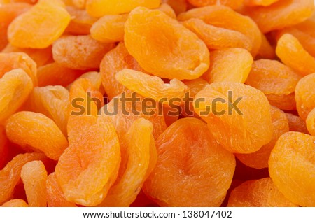 dried apricots close-up as background - stock photo