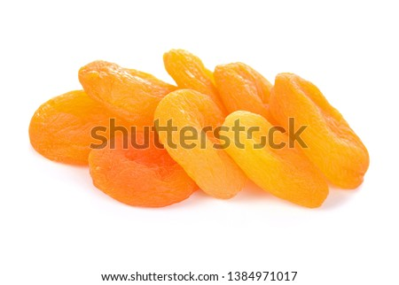 dried apricots isolated on white background #1384971017