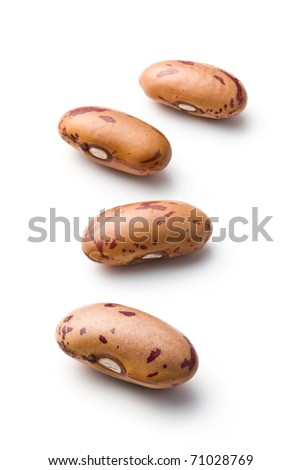 dried beans on white background