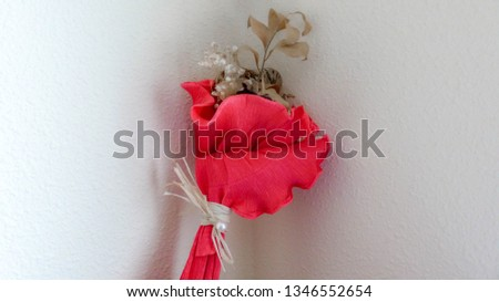 dried bouquet of flowers for Saint Valentin #1346552654