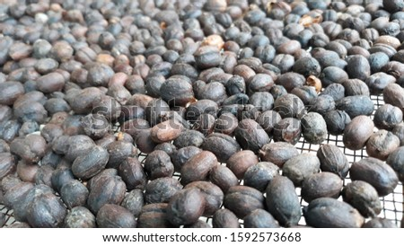 Dried Coffee Cherries, dry process