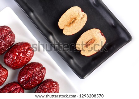 Dried dates, dried dates, dried fruit food