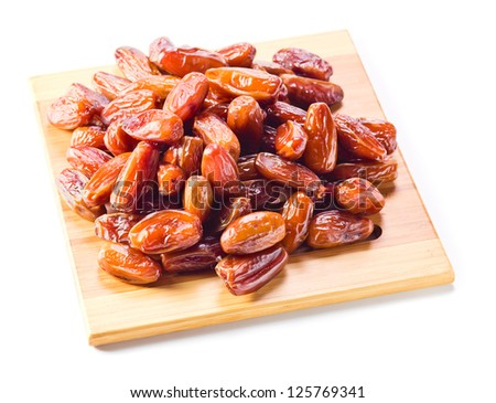 Dried dates isolated on a white background