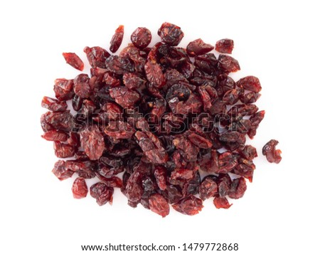 Dried Dried canberry mix blueberry fruit isolated on white backgroud, food healty diet