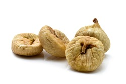 dried figs fruit isolated on white background