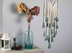Dried flower bouquet, hydrangea arrangement