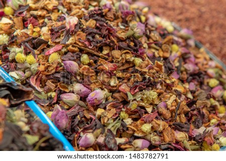 Dried flower dried herbal teas with variety of colors