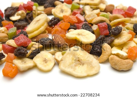 Dried fruits closeup