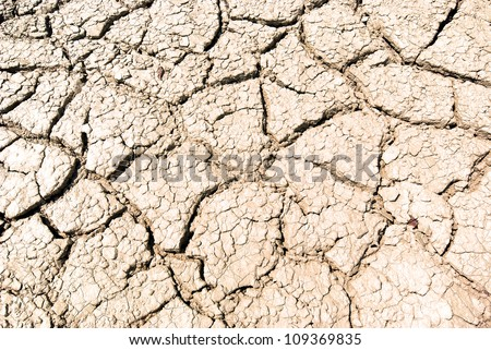 Dried ground light brown in color with cracks. texture - stock photo