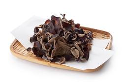 Dried Kikurage (wood ear mushroom, Jew's ear mushroom, fungus)