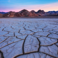 Dried mudcracks in death valley national park