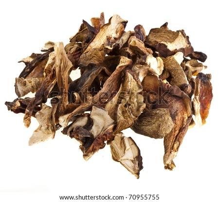 dried mushrooms isolated