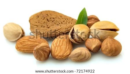 Dried nuts closeup