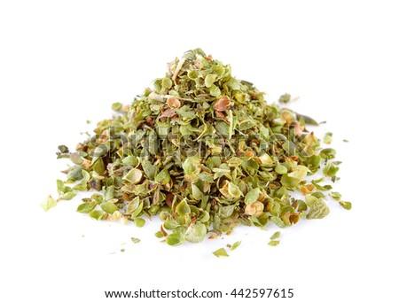 Dried Oregano on white background #442597615