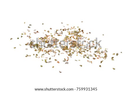 dried oregano spice isolated on white background #759931345