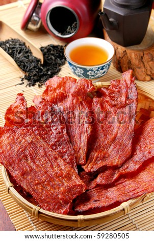 Dried pork
