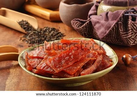 Dried pork - A Popular Taiwanese food