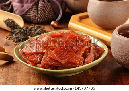 Dried pork - A Popular Taiwanese food
