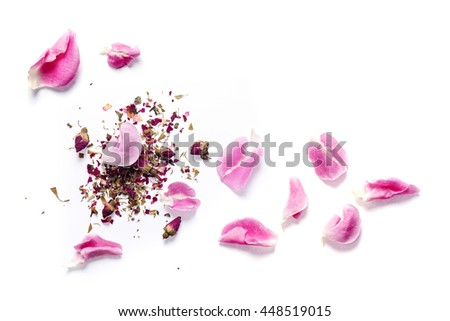 Dried rose and Rose petal for making Triple Rose facial Freshener #448519015