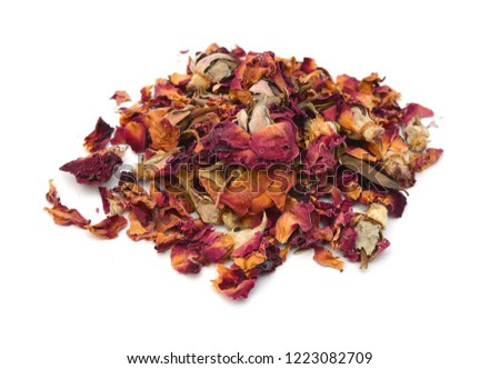 Dried rosebuds on white background #1223082709