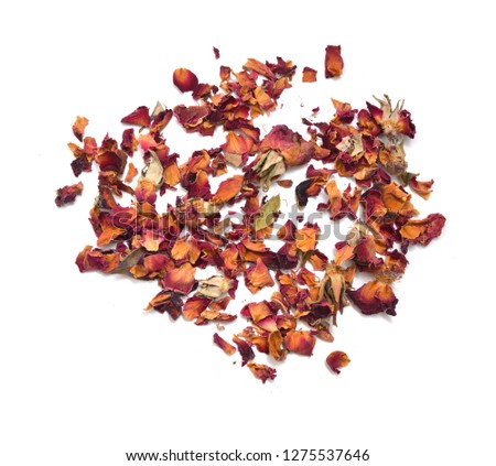 Dried rosebuds on white background #1275537646