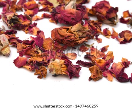 Dried rosebuds on white background #1497460259