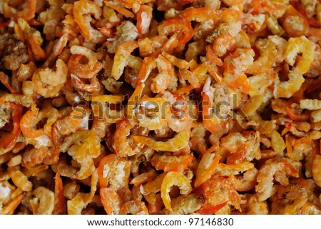 dried salted prawn, sea food