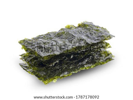 dried seaweed isolated on white Photo stock ©