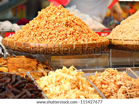 dried shrimps in chinese market