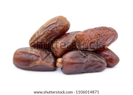 Dried sweet dates isolated on a white background #1106014871