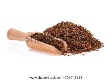Dried tobacco isolated on white background