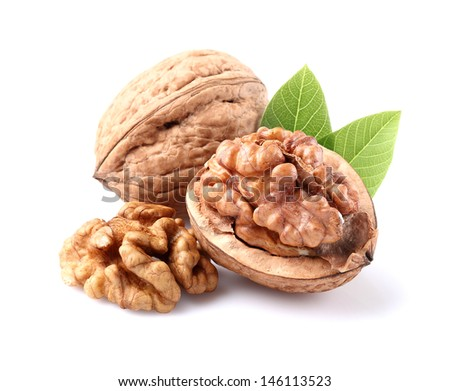 Shutterstock Dried walnuts with leaves