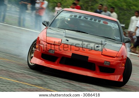 drift car in action