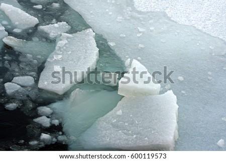 Drifting ice  Ice breaking / landscape #600119573