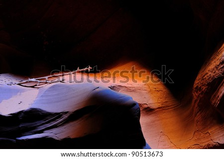 Driftwood in Upper Antelope Canyon