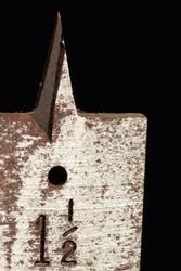 Drill Bit Macro Antique Rust