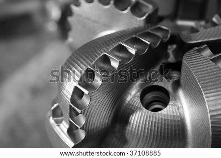 Drill Bit on a gray background.