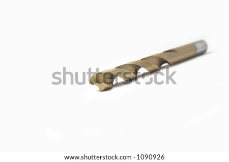 Drill Bit on a White Background