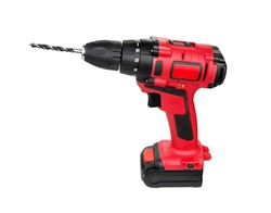 Drill. Cordless drill and screwdriver isolated on white background.