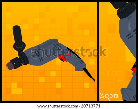 drill machine on isolated background
