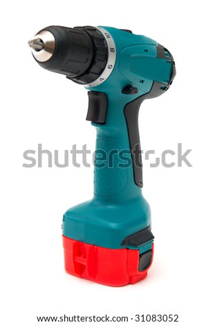 drill on a white background