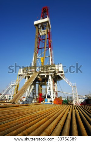 Drill pipe with land drilling rig