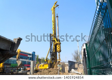 Drilling machine drilling process of the well