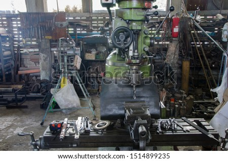 drilling machine in the drilling process of the metal plate